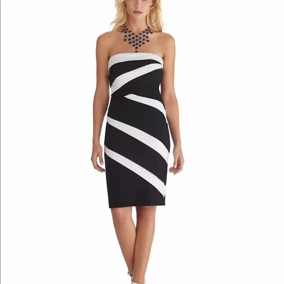 c018f6d71171a WHBM Color Block Strapless Dress Size 00 NWT. NWT. White House Black Market